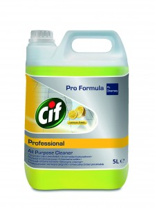 Cif All Purpose Cleaner Lemon Fresh skoncentrowany preparat do codziennego mycia wodoodpornych, niezabezpieczonych powierzchni 5L